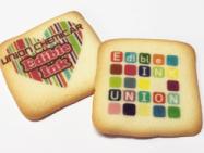 市販のランクドシャーに可食インクジェットで印刷し、プリントクッキーに