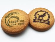 クッキーに可食インクジェットでキャラクターやロゴを印刷すると、プリントクッキーに