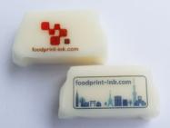 市販のソフトキャンディに可食インクジェットインクでダイレクトプリント。