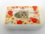 アートソープ、石鹸アートにもなる、可食プリント石けん。可愛いオリジナルデザインを印刷してお部屋のインテリアや芳香剤代わりに