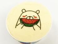 カップアイスに白熊デザインをダイレクトプリント