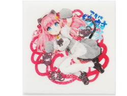 採用事例 メイドカフェ アキバ絶対領域 プリント焼き菓子シートでケーキ 094-2