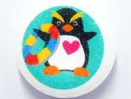 01 お菓子プリント プリントラムネ:ペンギンをプリントした可愛いラムネ