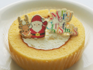 焼き菓子シート:ケーキなどのクリスマスプリントのデコレーションパーツやケーキピック