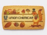 1:可食インクジェットインクのプリントクッキー(秋の紅葉、どんぐり、リスのデザイン)