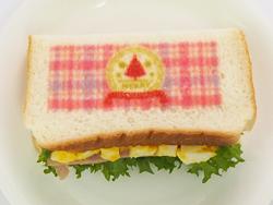食パンにクリスマスデザインをプリント(プリントサンドイッチ)