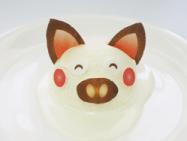 1:アイスクリームにデザインのプリント焼き菓子シート(可食シート)でオリジナル 動物アイス