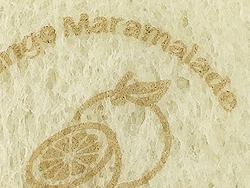 サンドイッチのパンに天然色素の可食インクでダイレクト印刷