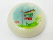 和生菓子のだんごにダイレクトにプリントしています