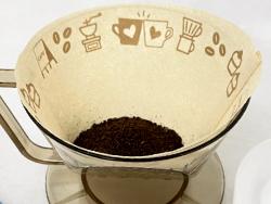 このコーヒーフィルターに印刷は、天然色素の可食インクでダイレクトプリントしました。